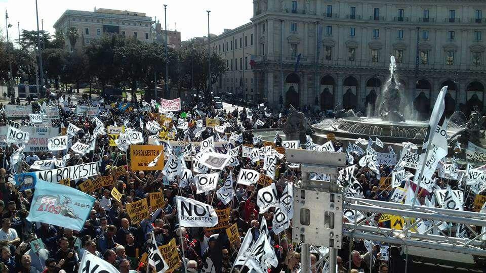 La manifestazione di ieri a Roma