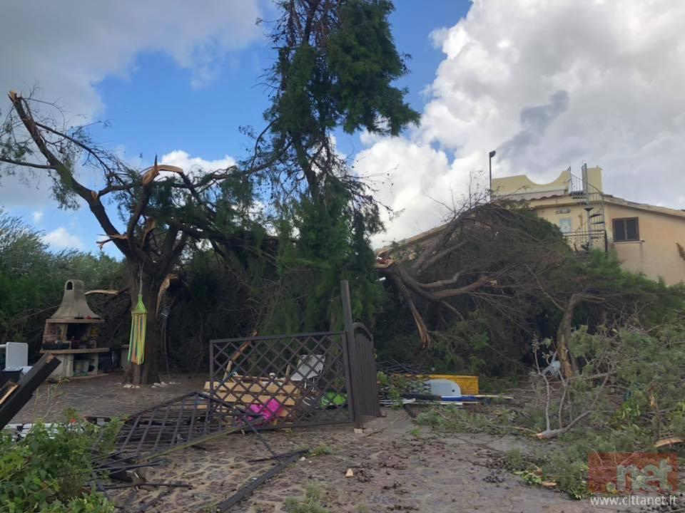Una casa di Sperlona danneggiata dal maltempo