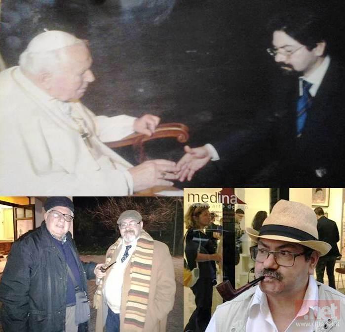 Il candidato assieme a Don Luigi e papa Giovanni Paolo II