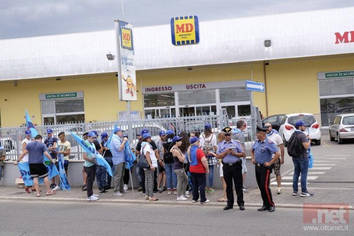 La foto inviata dalla Uiltucs per ricordare le manifestazioni fatte in passato