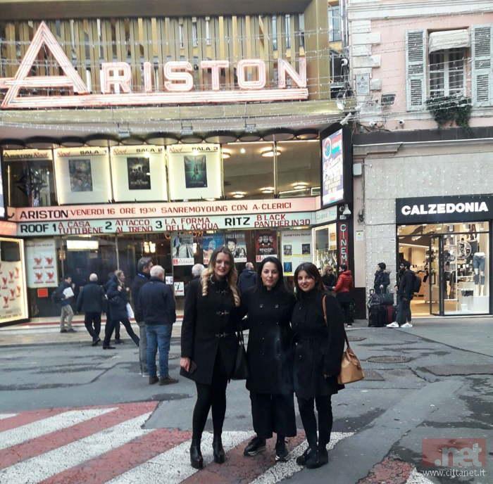 Simona Capuano, Denis D'Angelis e Ilenia Riccardi a Sanremo