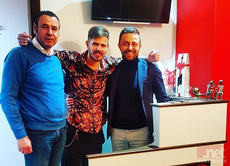 Gregorio Massarone assieme al presidente dell'Arcom di Fondi Enzo Di Lucia e a Patrizio De Filippis