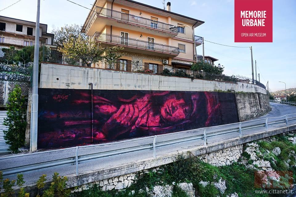 Il capolavoro dello street artist Sav45 a Lenola