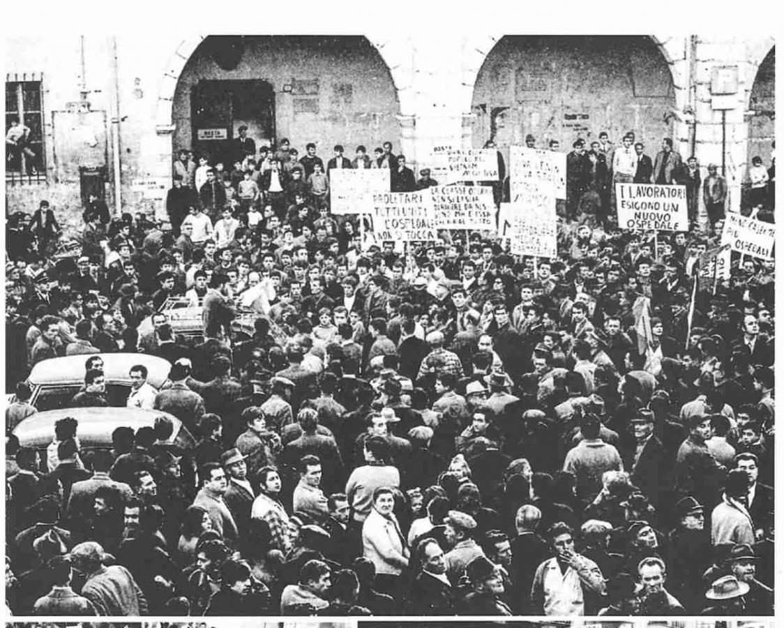 Uno scatto della manifestazione pro-Ospedale del 30-11-1968