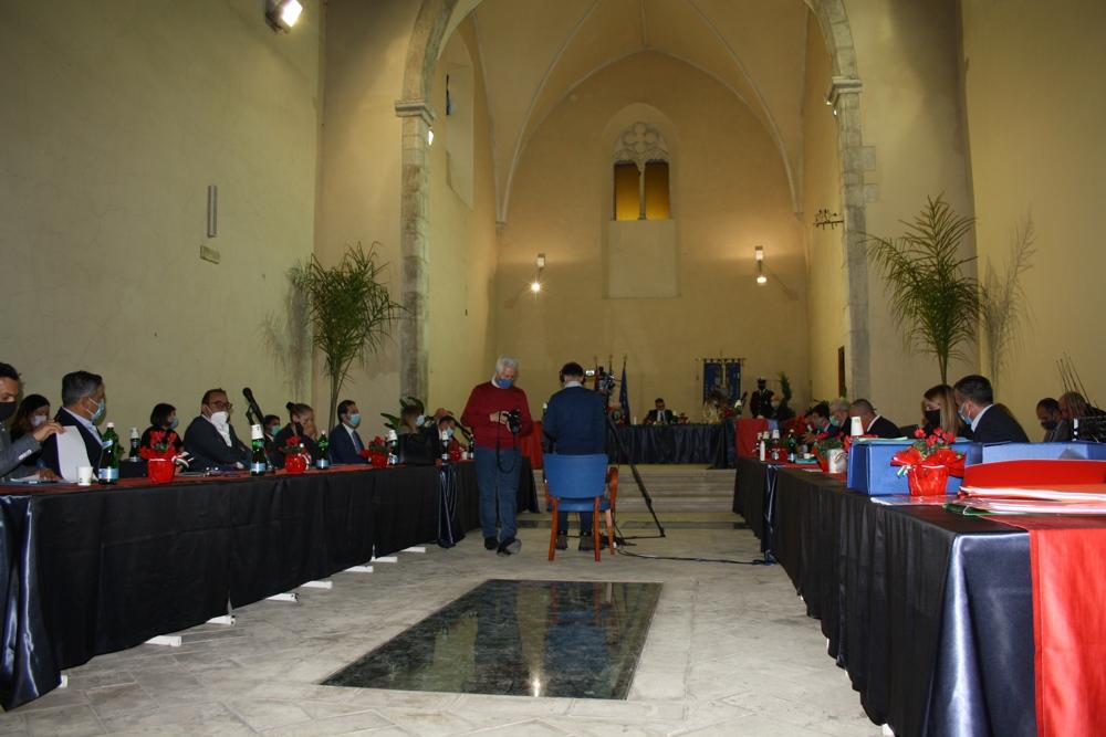 Il primo Consiglio comunale dell'era Maschietto che si è tenuto all'Auditorium di San Domenico