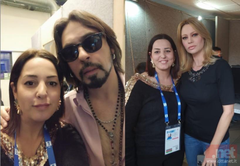 La hair stylist Simona Capuano a Sanremo con Francesco Sarcina e Anna Falchi